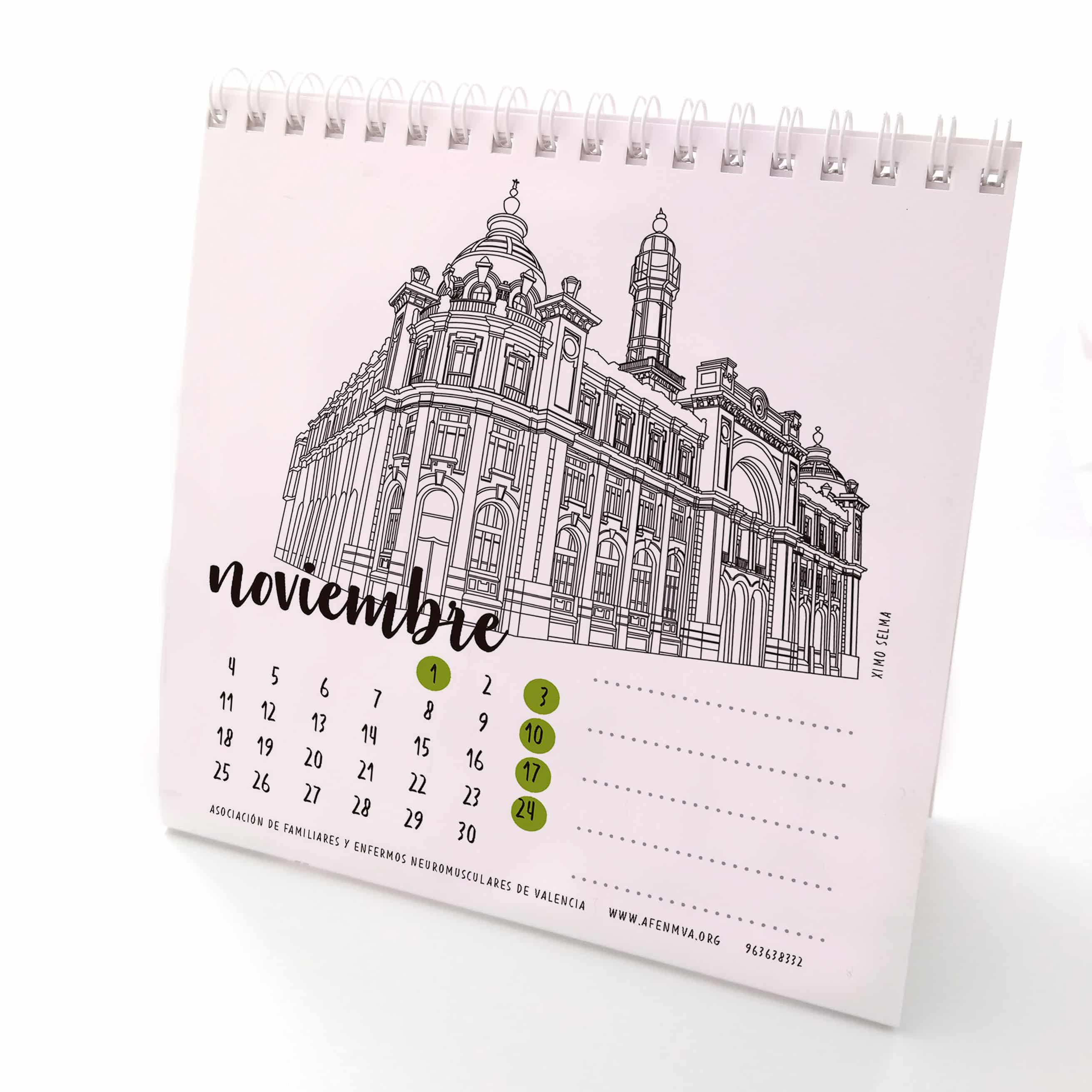 Noviembre calendario 2019