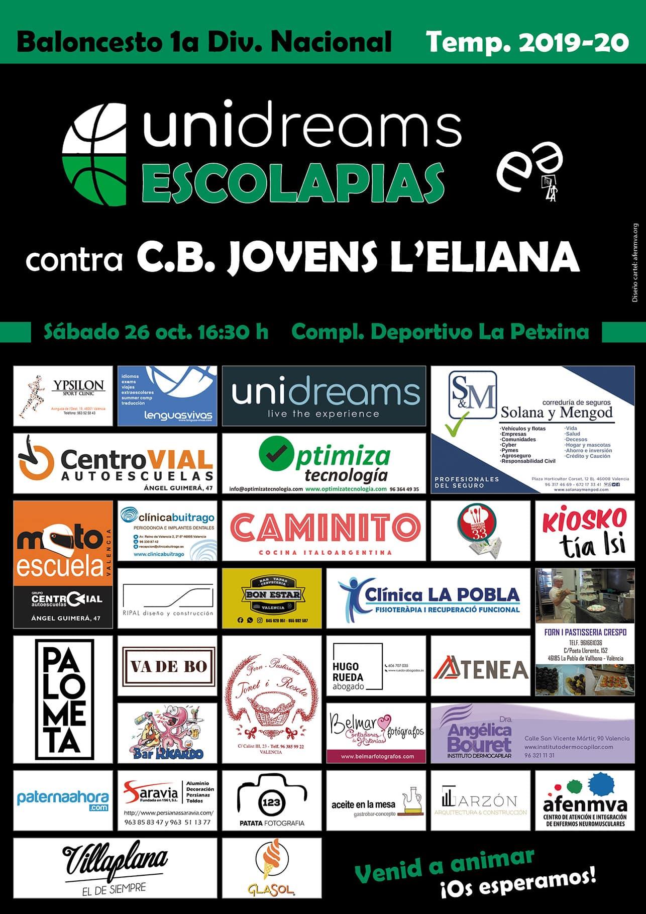 Cartel patrocinadores Escolapias-redes